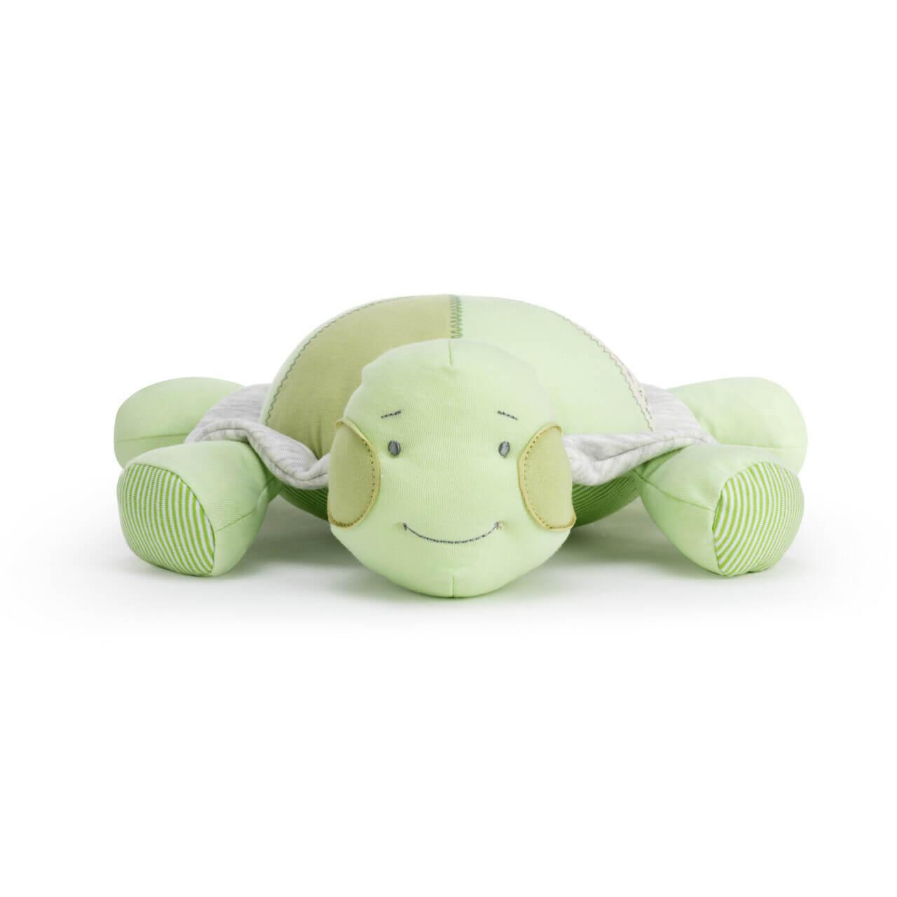 Demdaco grow slow green turtle plush
