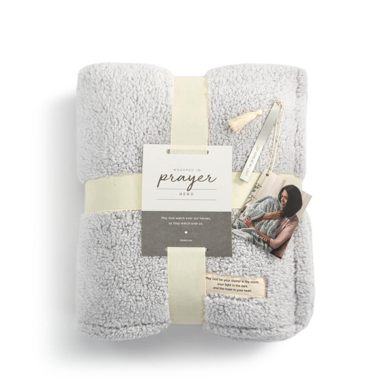 Demdaco hope healing light plush prayer blanket