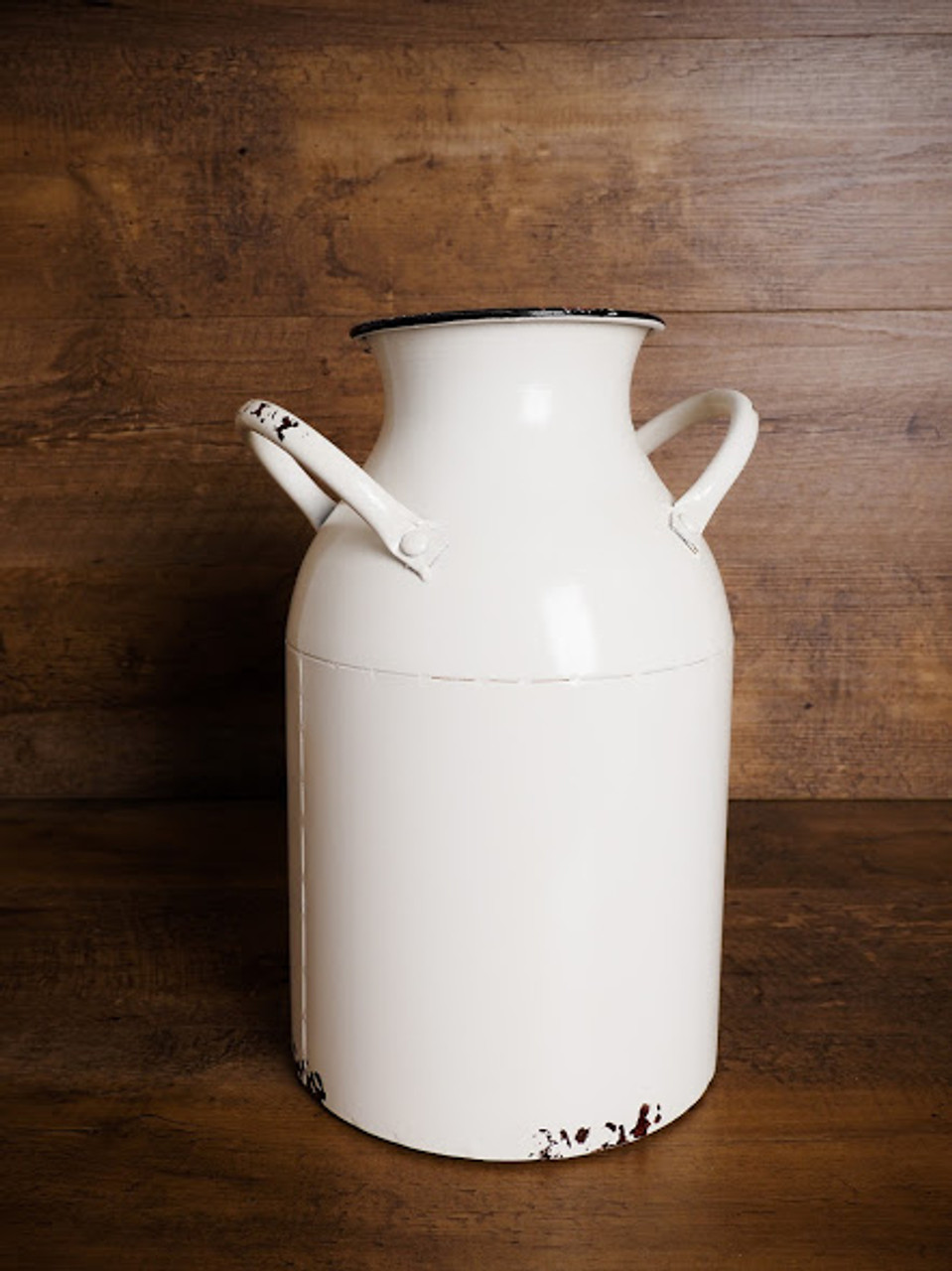 Distressed Milk Can Vase With Handles