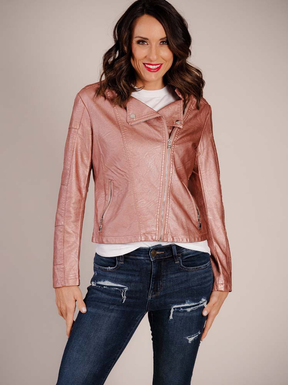 Woven Jacket in Pink Rose