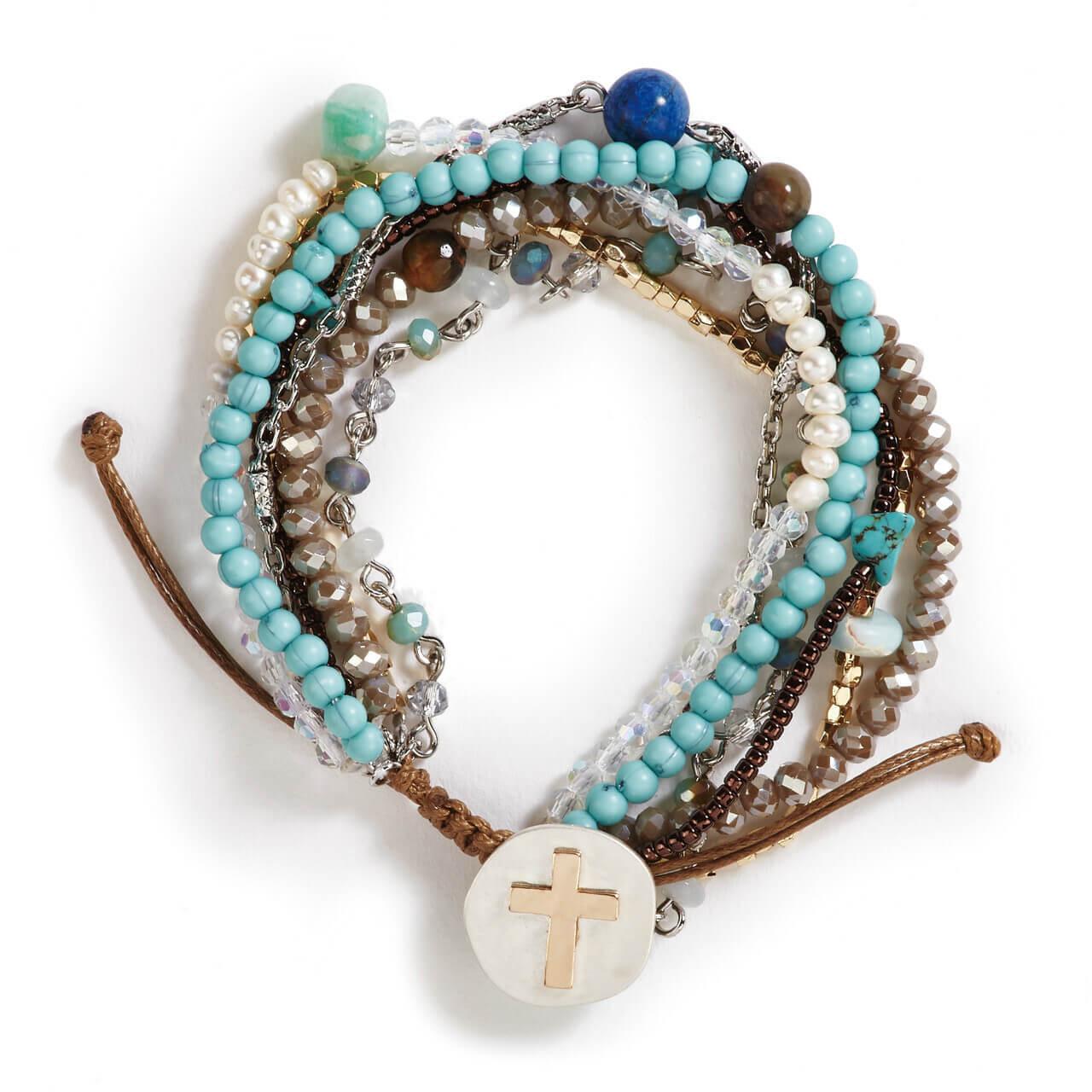 A lot happens in seven days prayer bracelet turquoise