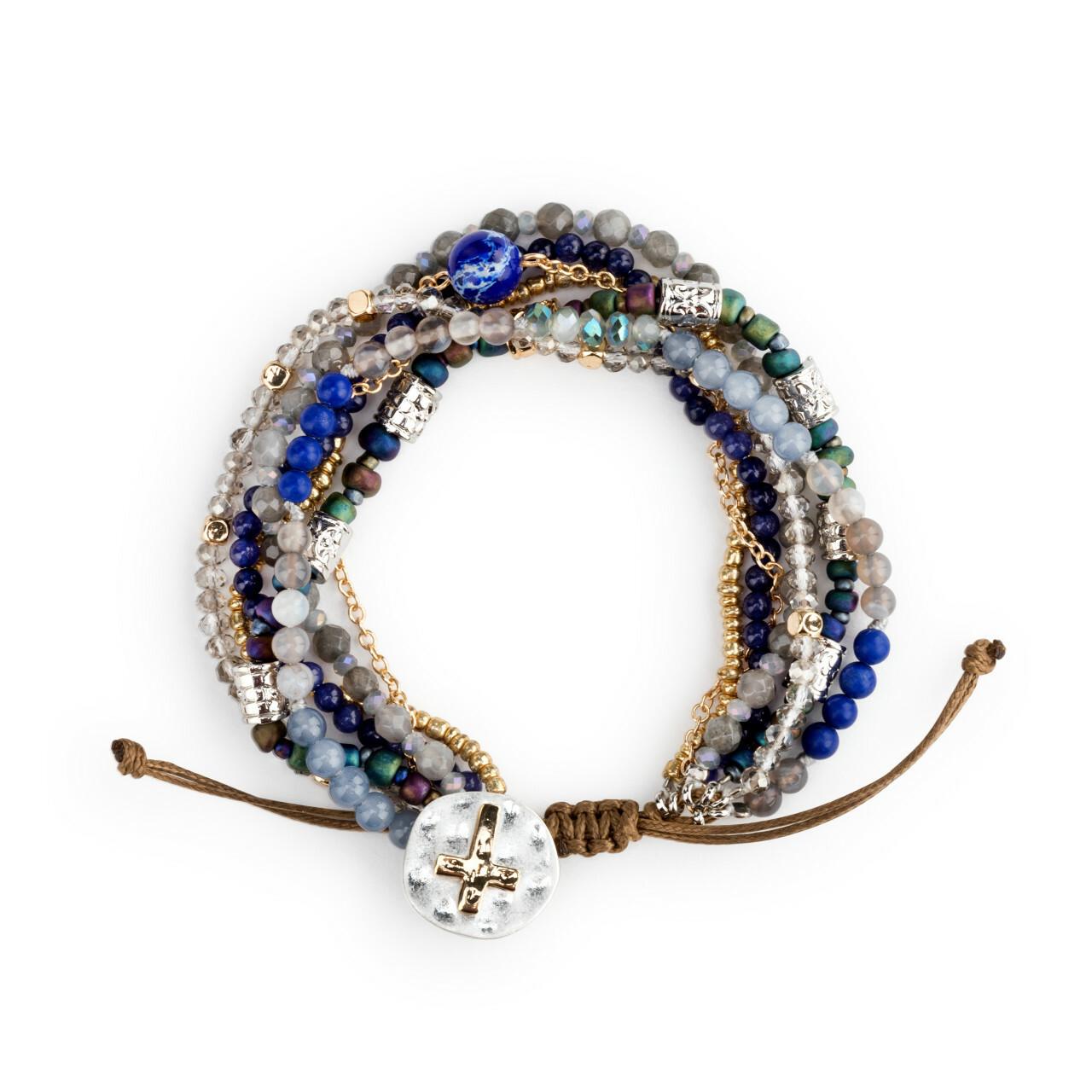 A lot happens in seven days prayer bracelet indigo