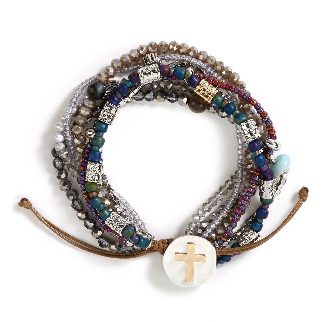 A lot happens in seven days prayer bracelet gray