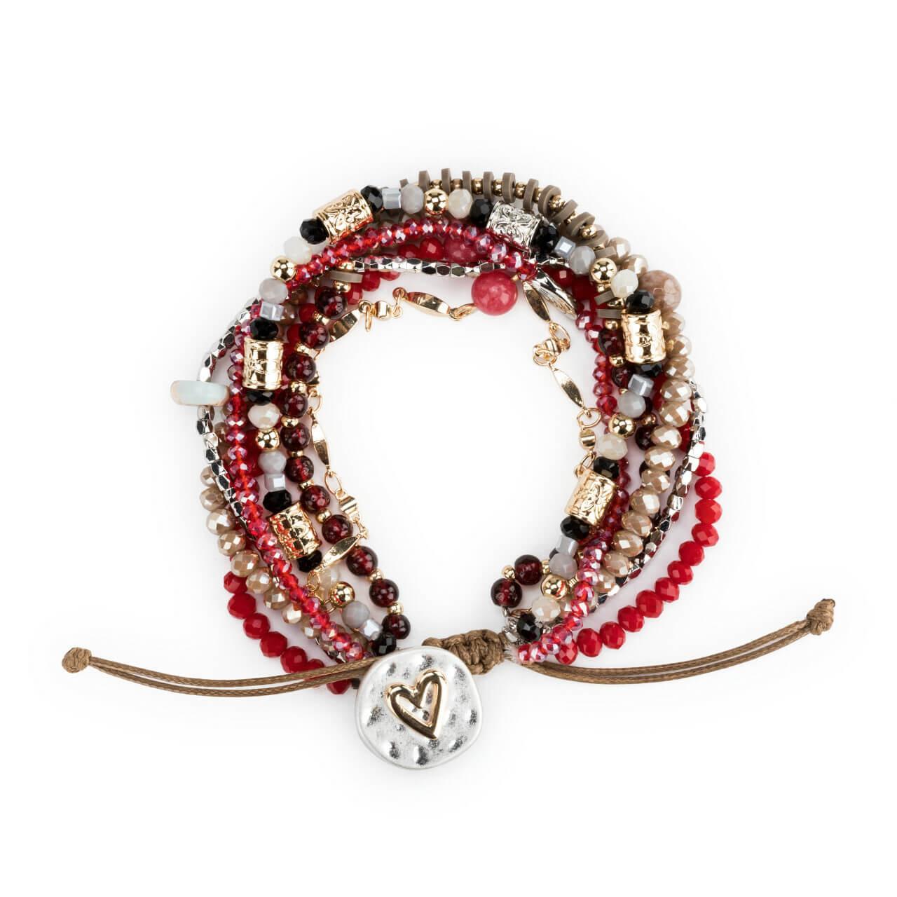 A lot happens in seven days love heart bracelet garnet