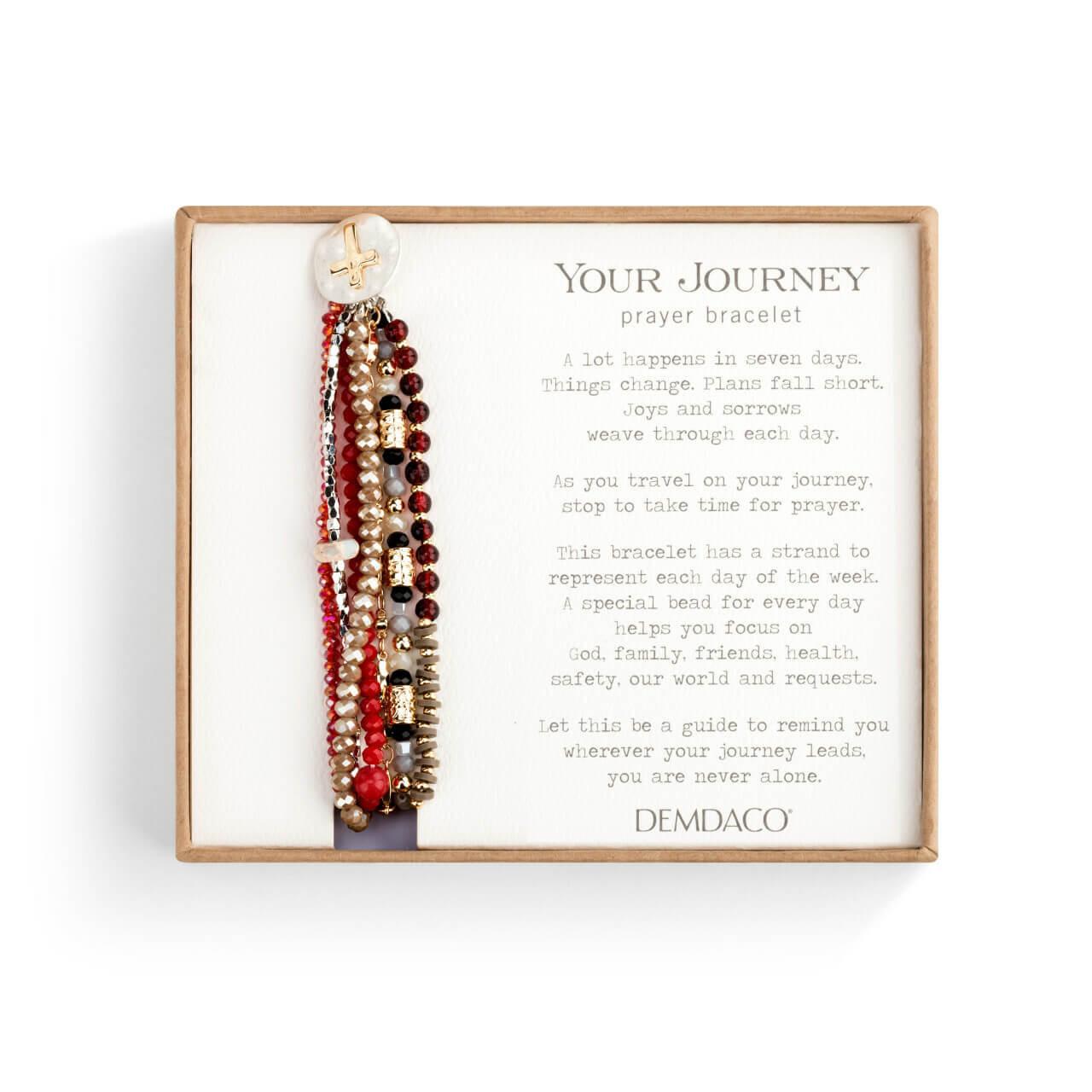 A lot happens in seven days prayer bracelet garnet