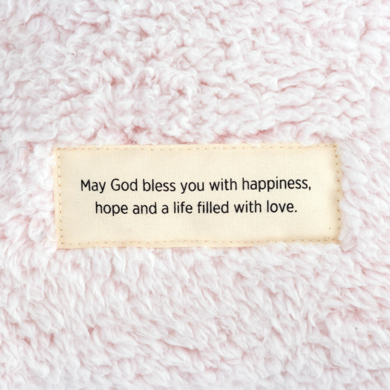 Weighted plush pillow Faith Happiness Love demdaco