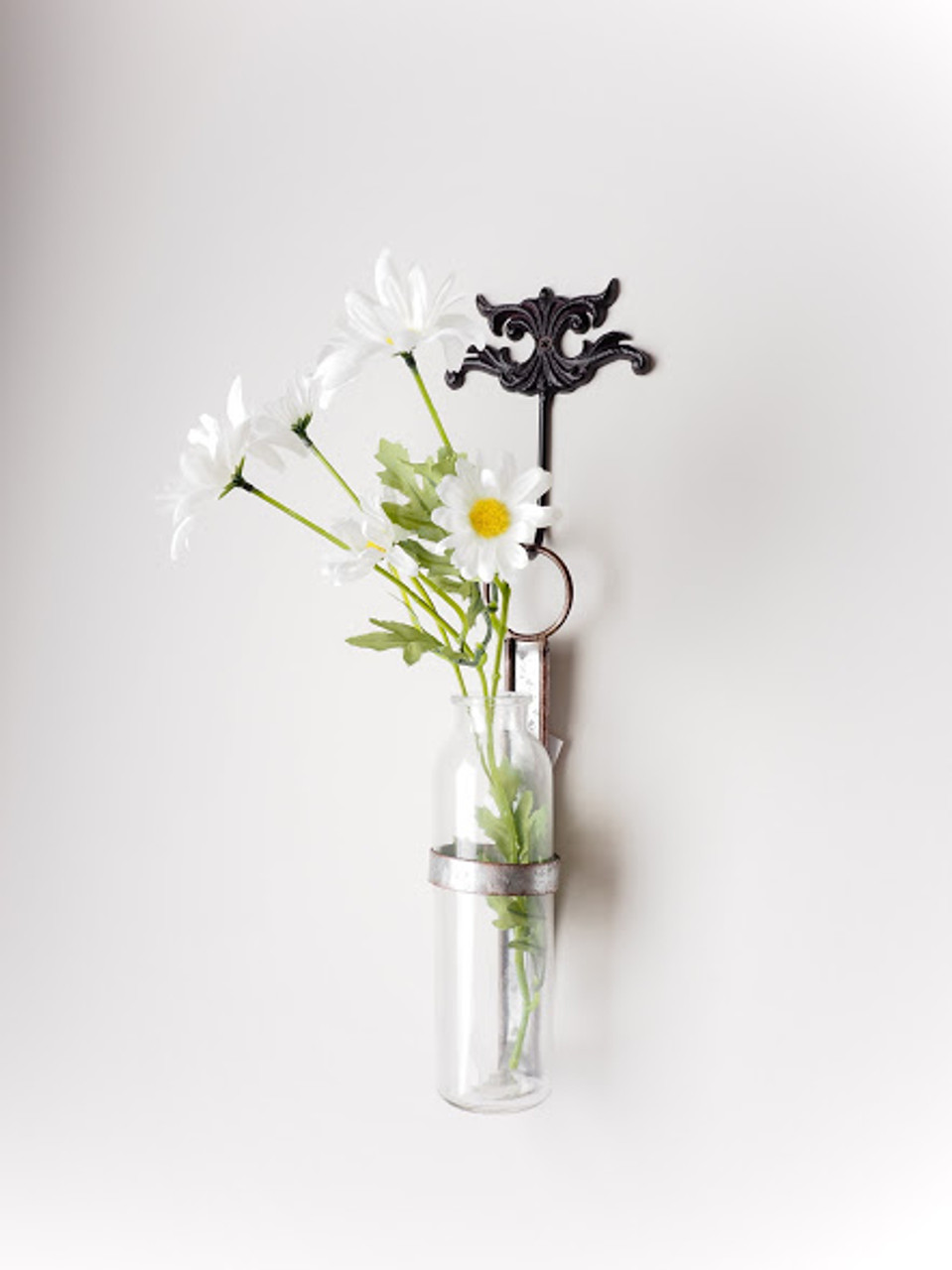 Wall Mounted Glass Flower Bud Vase