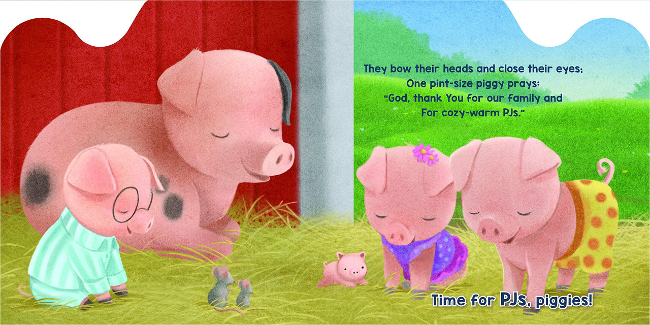 The playful pigs in Bedtime Barn don't want to go to sleep!