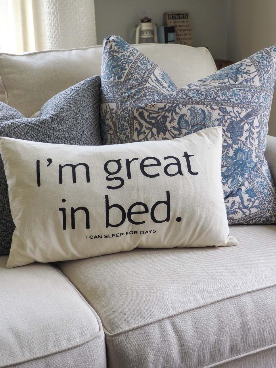 great in bed lumbar pillow