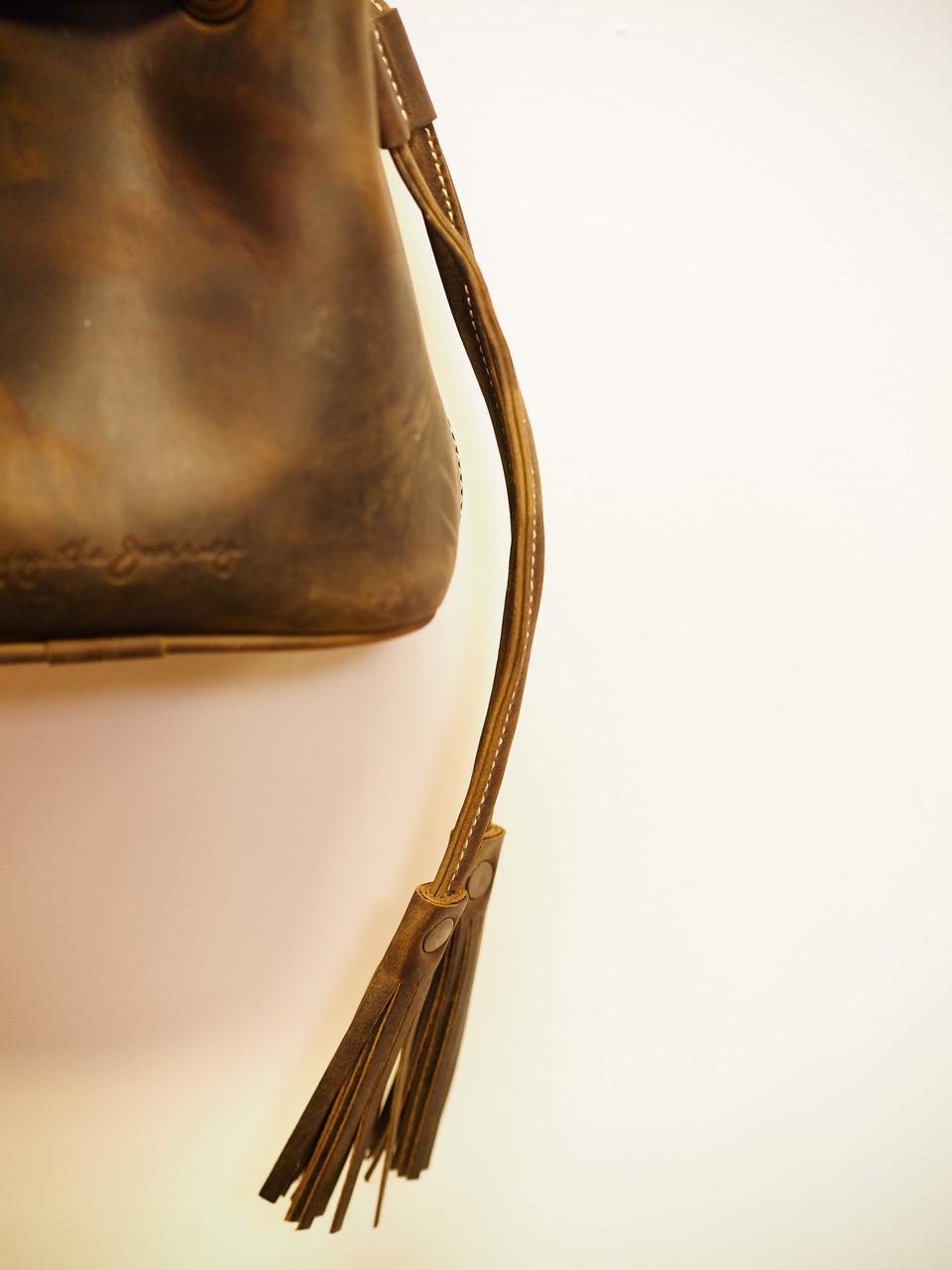 Mini Correa Bucket Bag in Chocolate