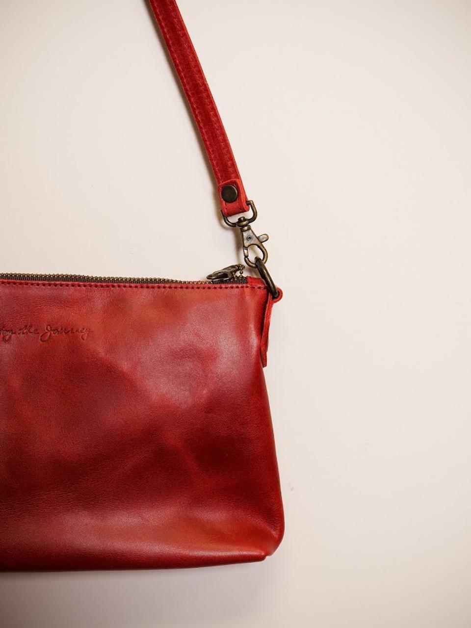 Large Crossbody Handbag in Red