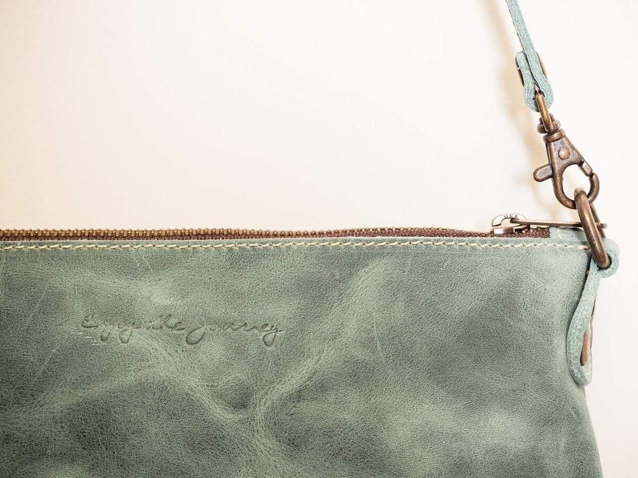 Large Crossbody Handbag in Turquoise