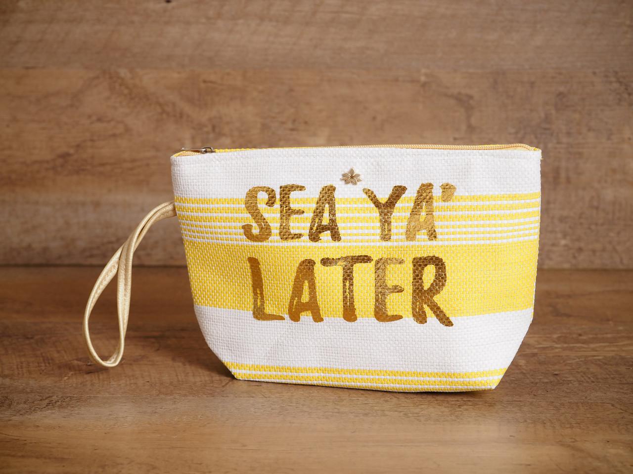 Straw Wristlet - 'Sea Ya' Later'