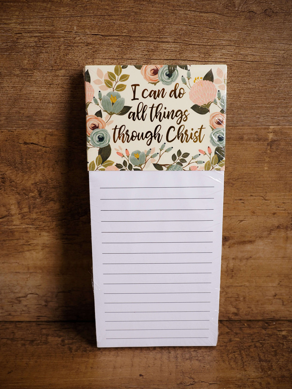 Inspirational Magnetic Notepad - I can do all things through Christ who strengthens me.
