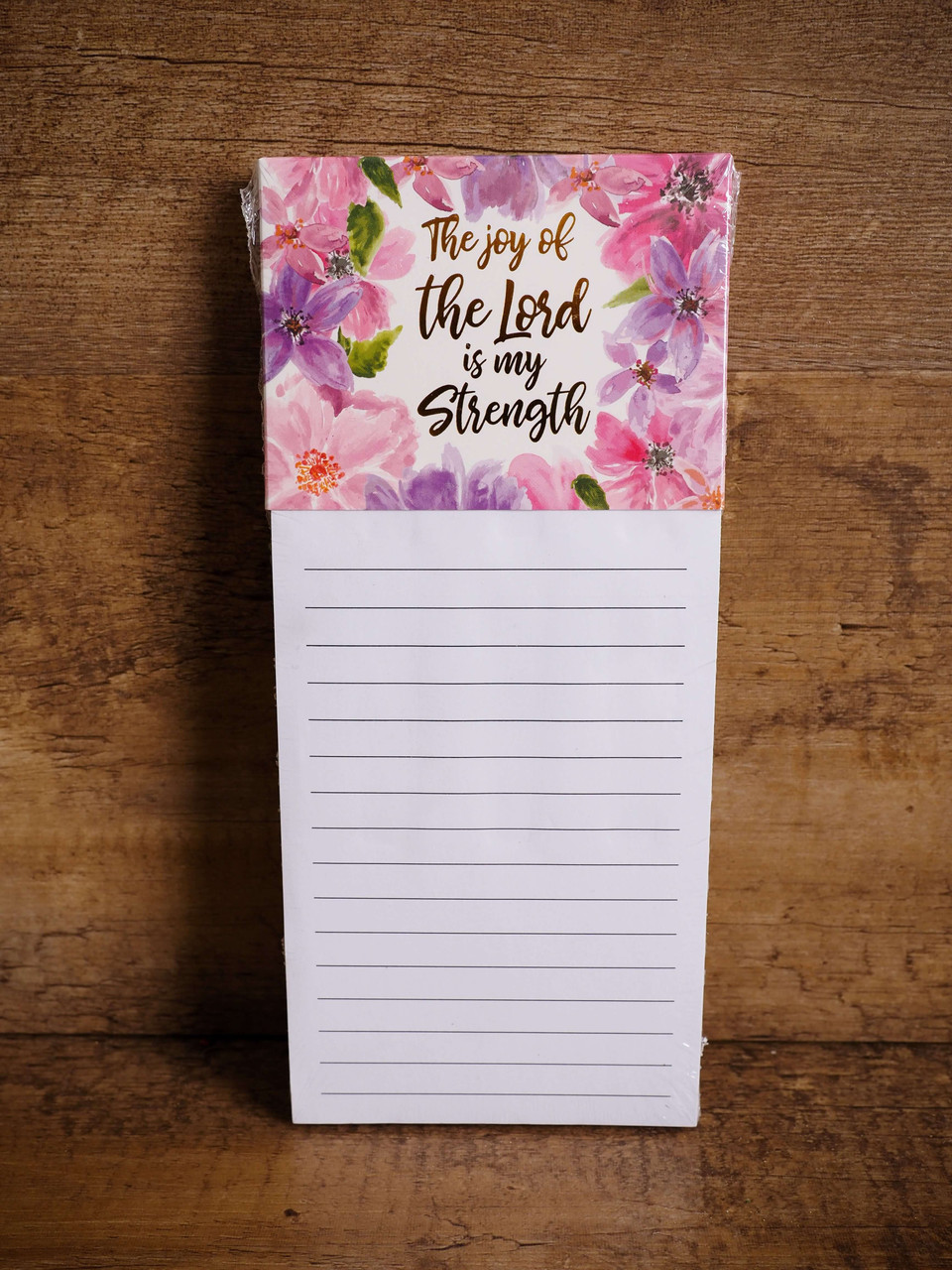 Inspirational Magnetic Notepad- The joy of the Lord is my Strength.