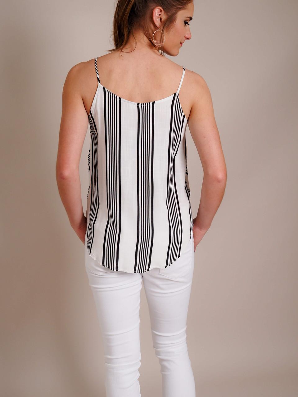 Black & White Striped Camisole