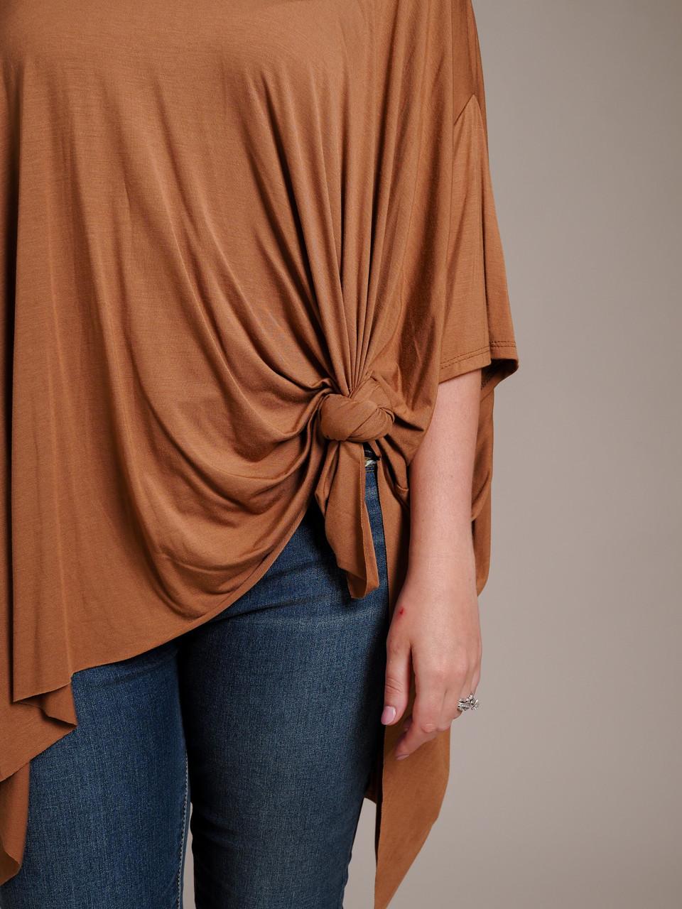 dolman sleeve brown almond top