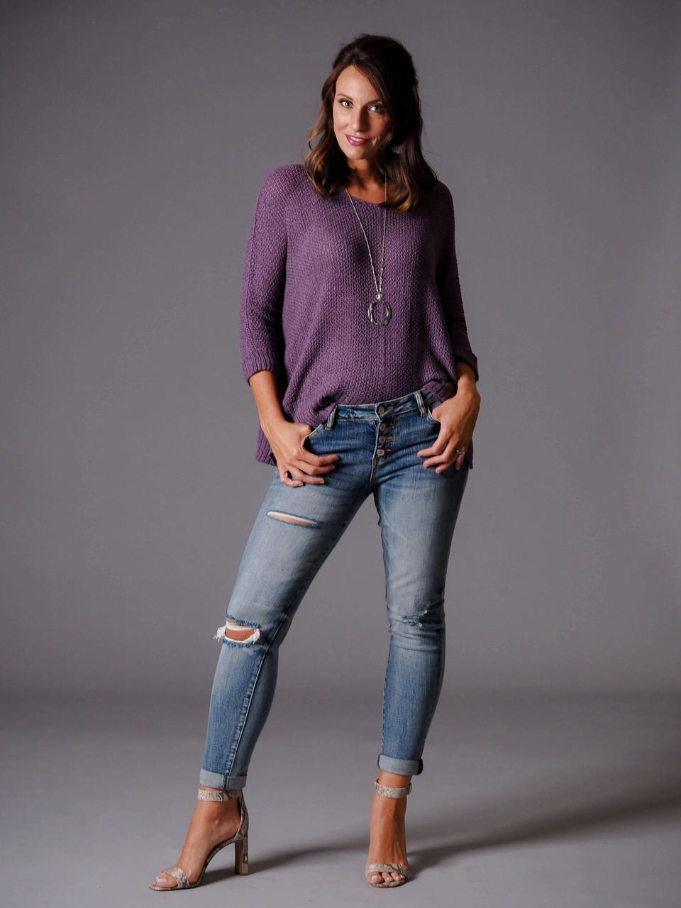 plum purple pullover sweater