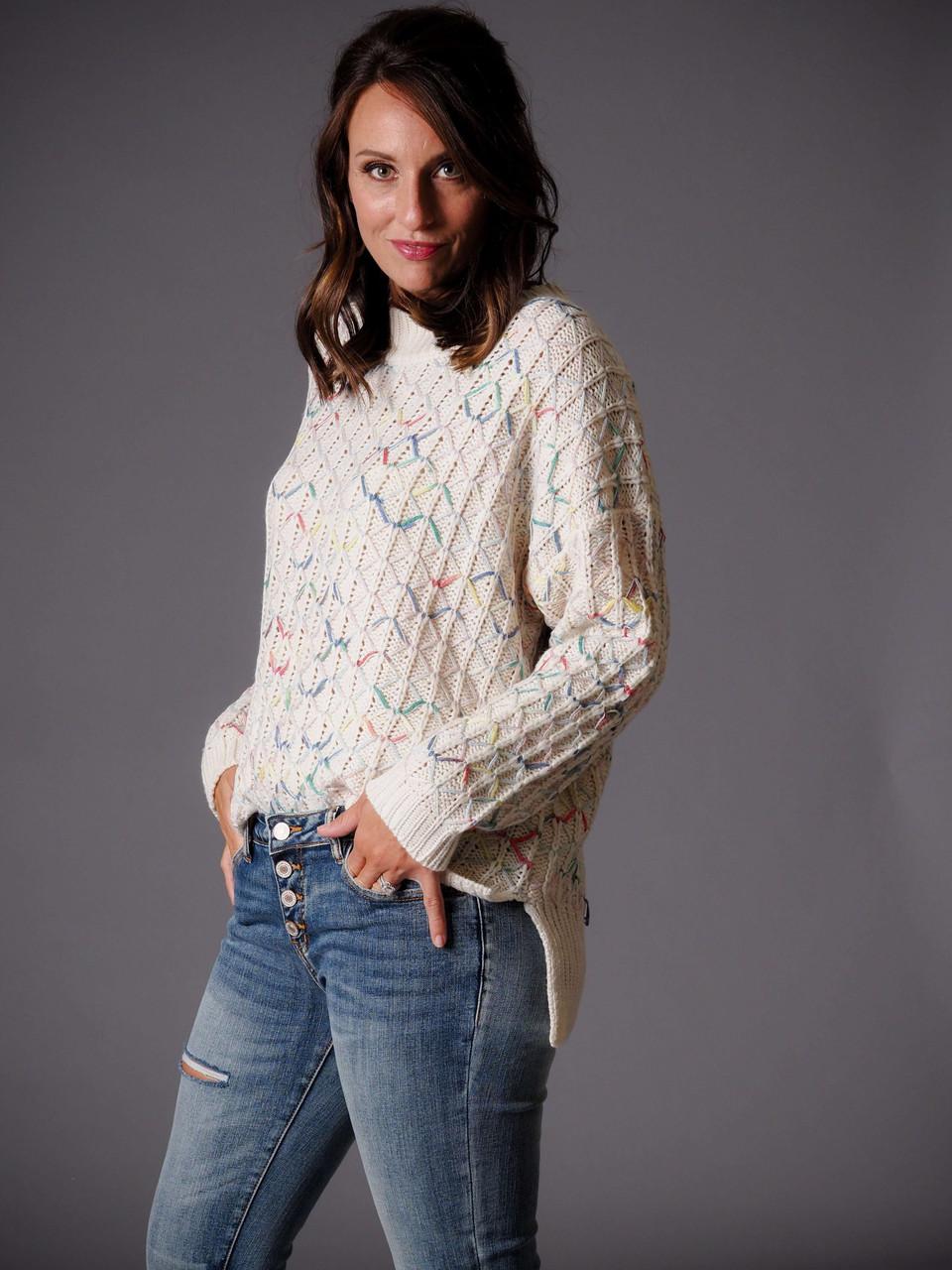 multi color knit sweater