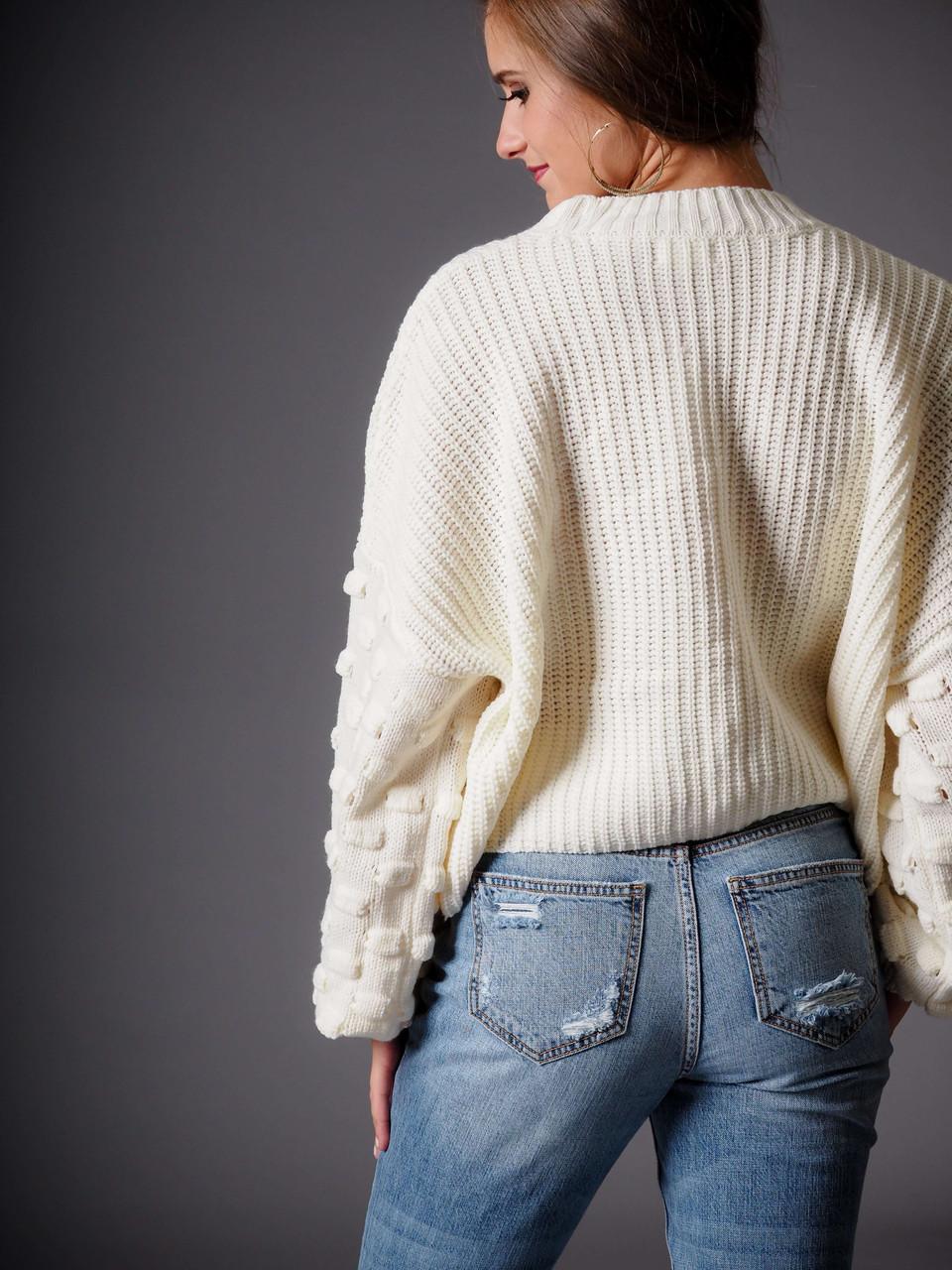 ivory cream knit sweater