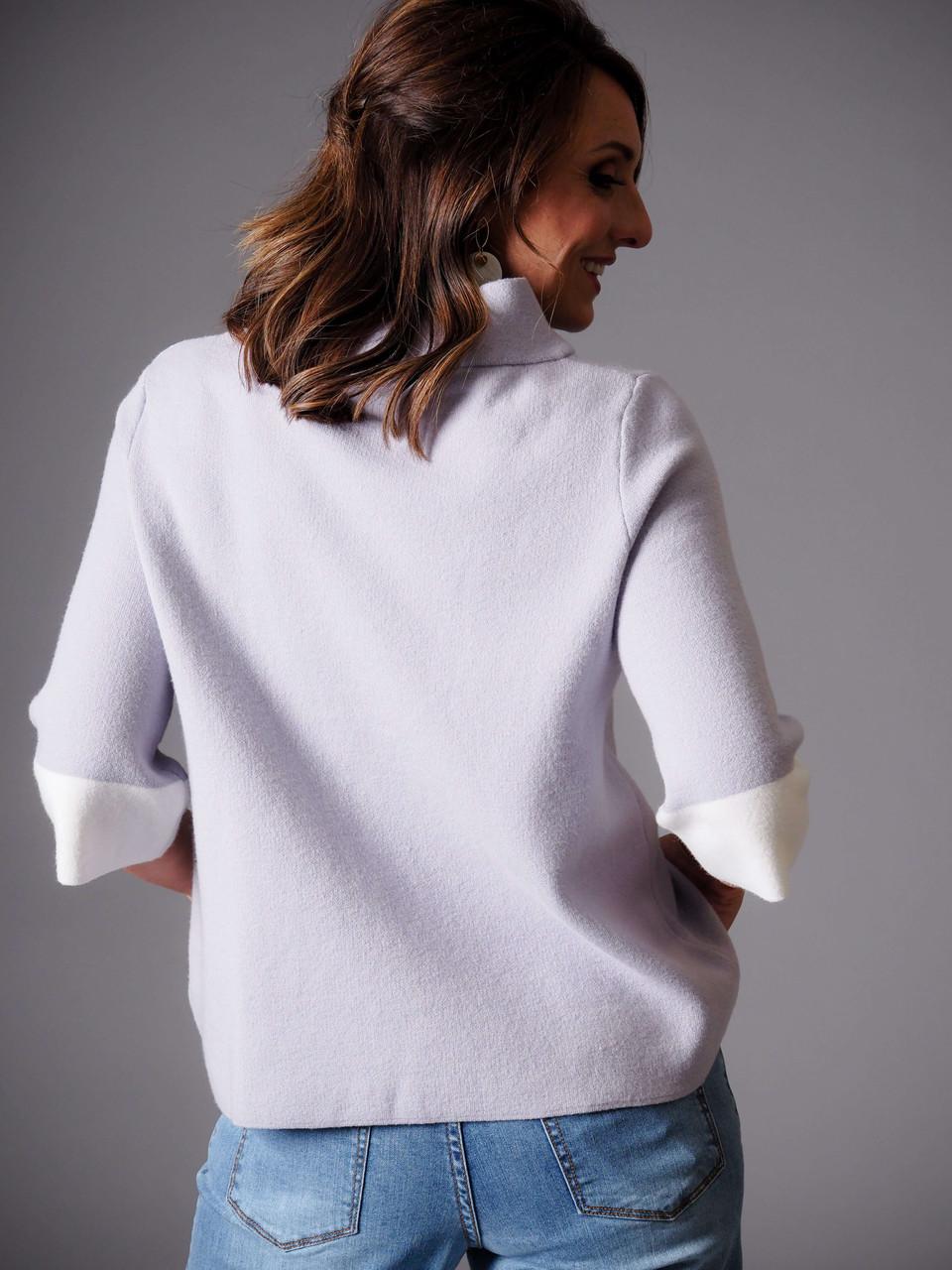 lavender sweater
