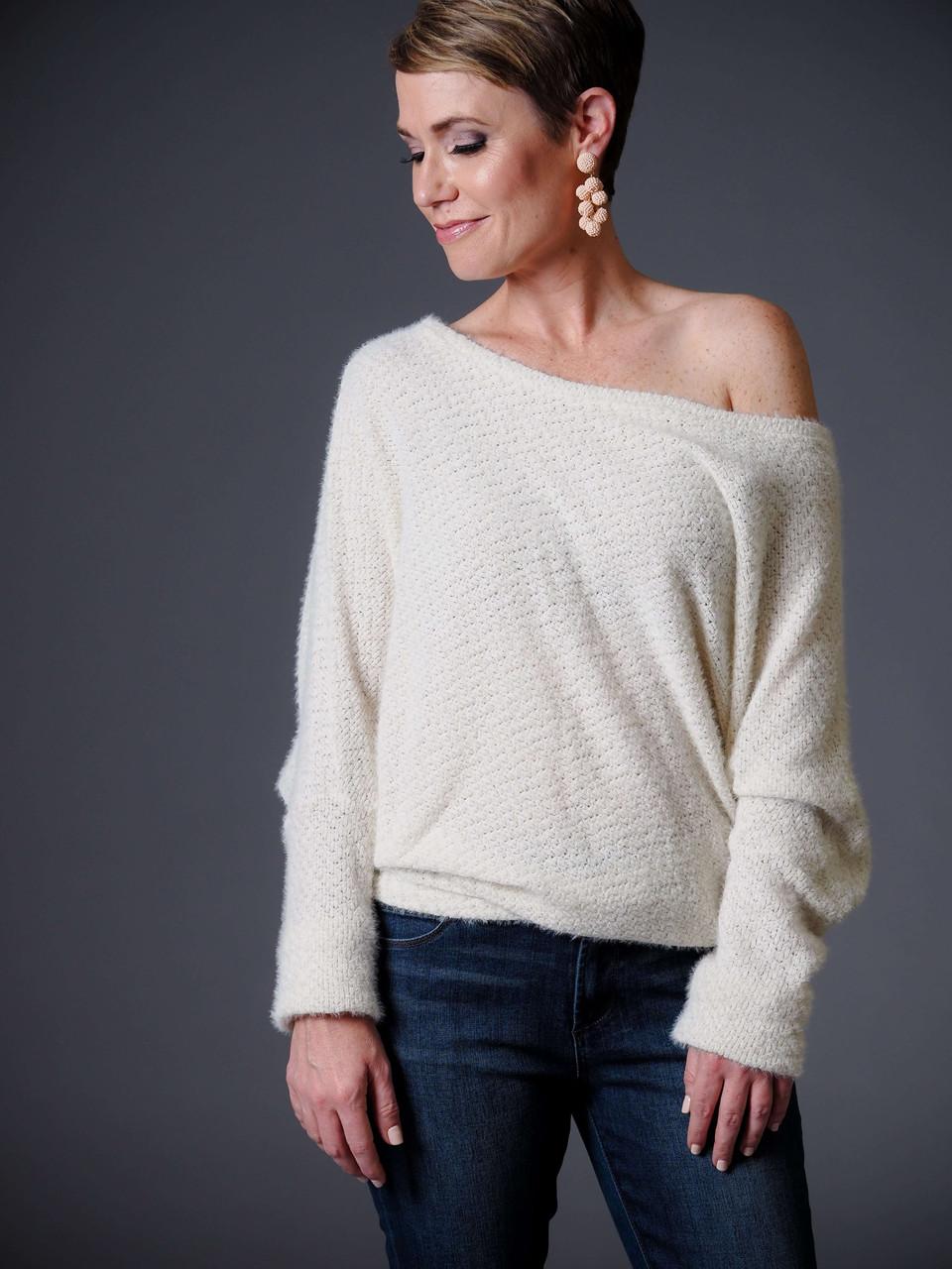 Eyelash Drop Shoulder Sweater