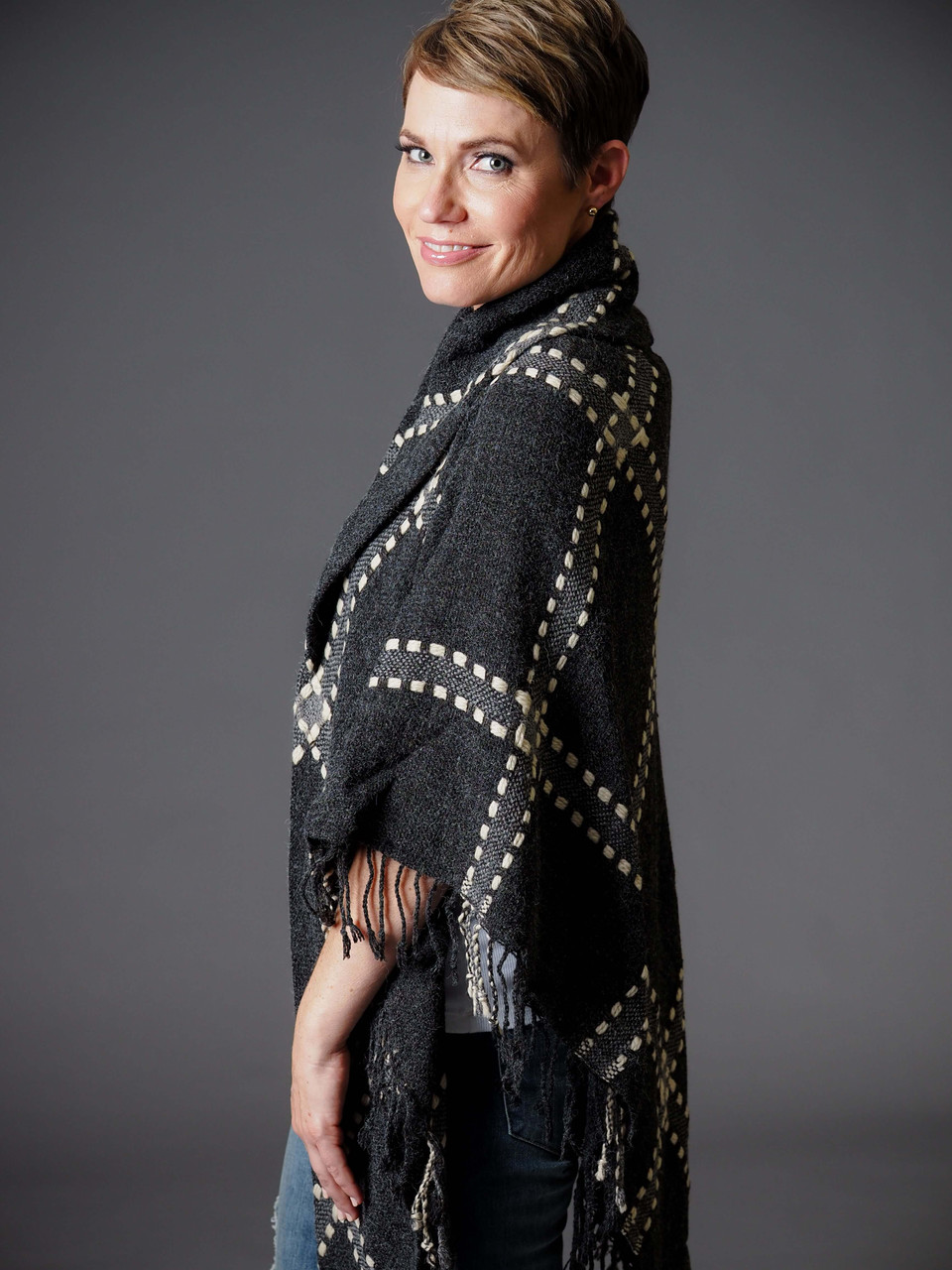 black and charcoal wrap