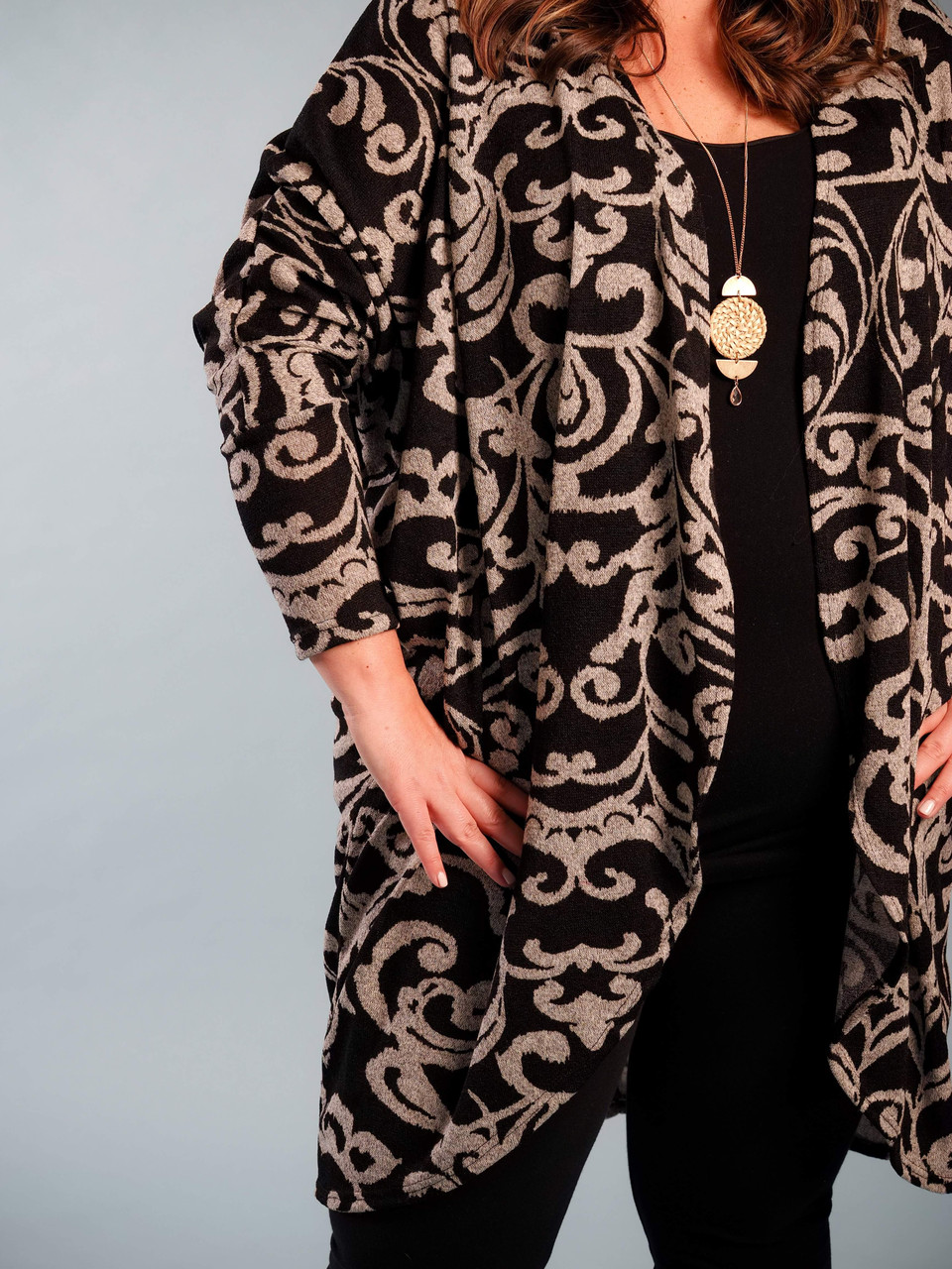 lightweight high/low cardigan plus size curvy clothing