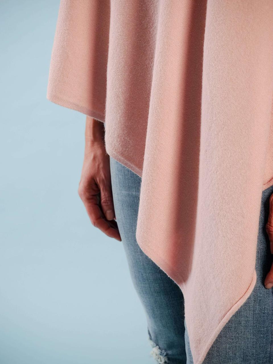 lightweight wool poncho asymmetrical hem