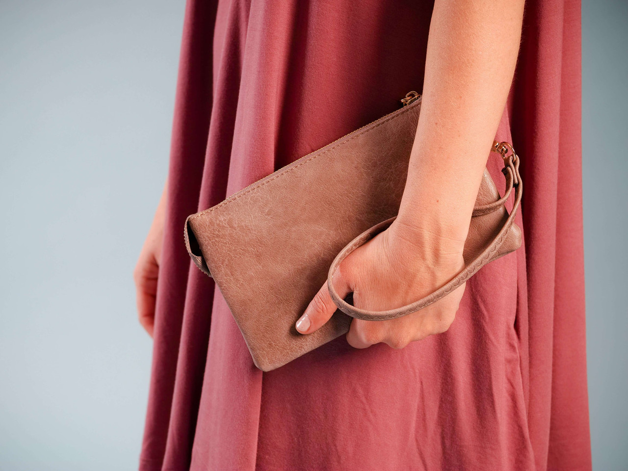 wristlet and crossbody with adjustable strap