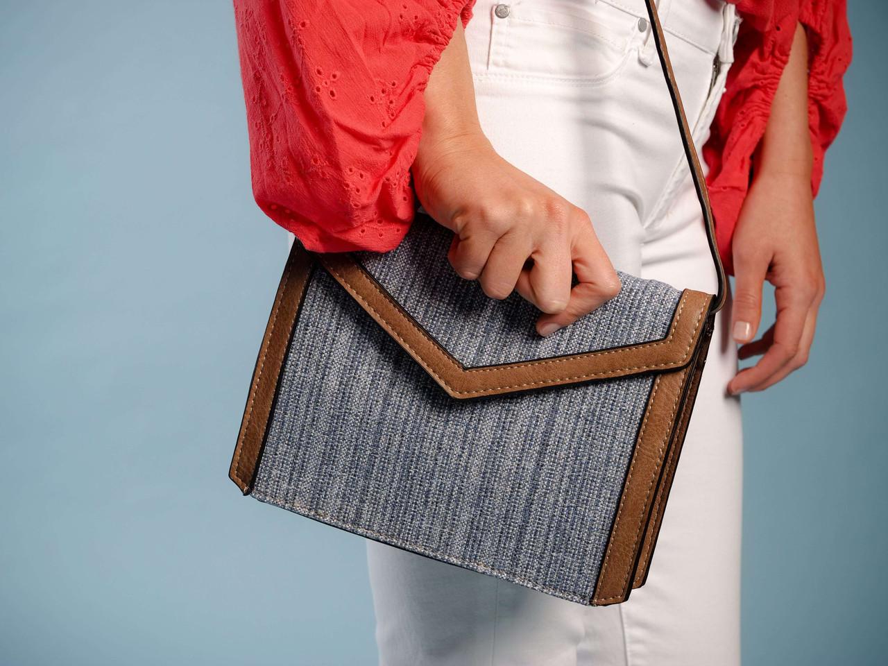 envelope style leather crossbody