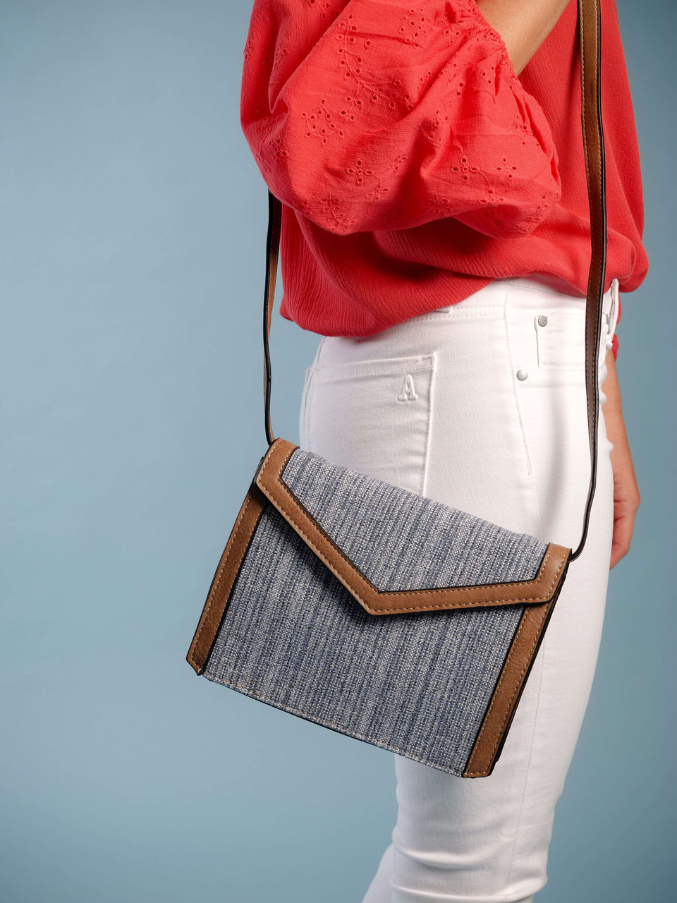 envelope style faux leather crossbody