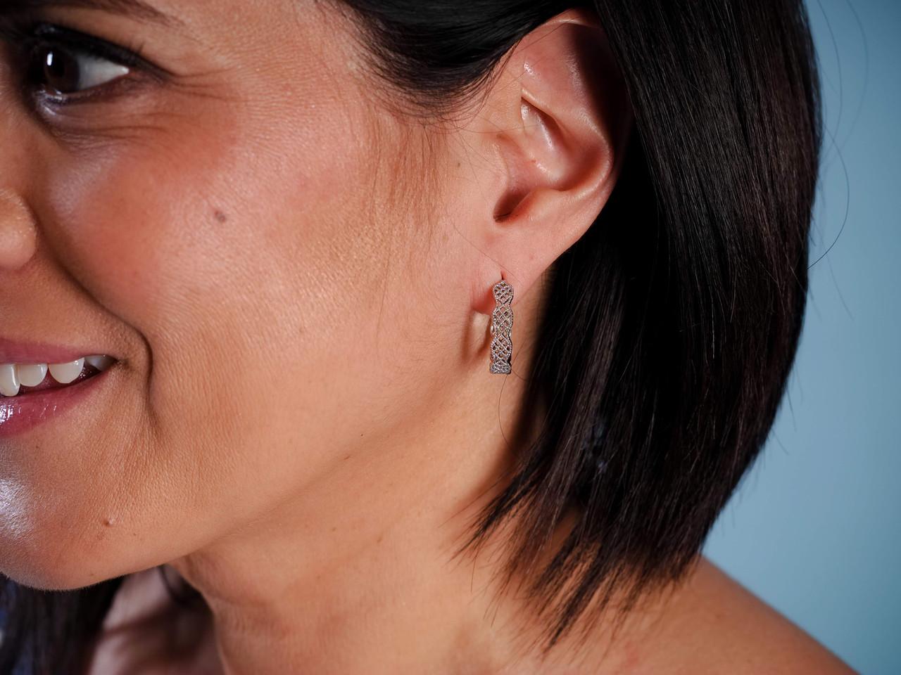 silver vintage hoop earrings