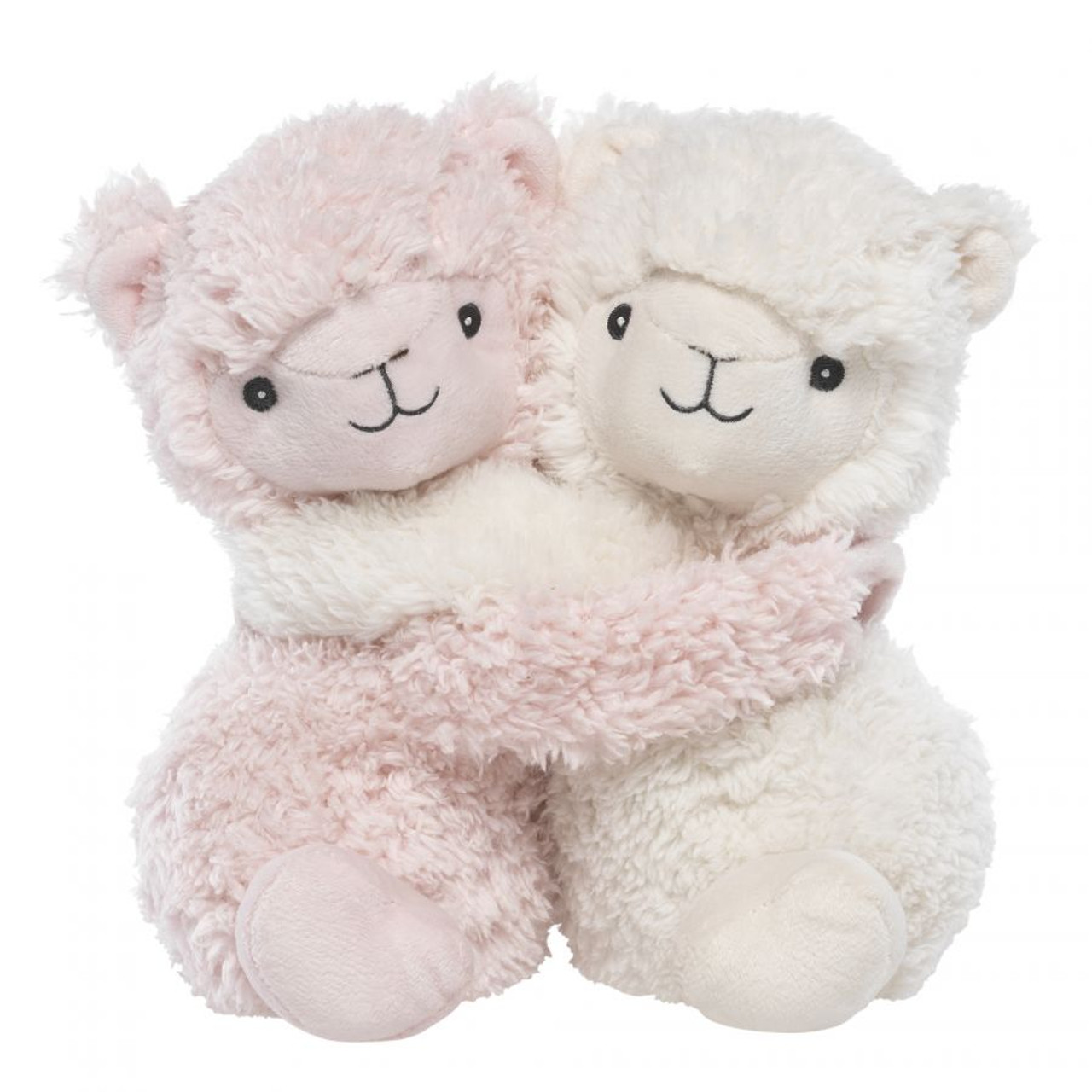 """Warmies®Hugsare the newest addition to the family of Warmies®. This super cute duo of heatable characters are gently scented with French lavender and provide the same warmth and aromatic comfort. Their arms wrap around each other and attach with Velcro making them perfect for mixing and matching to other Warmies® Hugs characters. You can also attach them anywhere and bring them with you on the go. Available in multiple adorable characters that are TWO cute not to LOVE. Warmies® are suitable for all ages. Approximately 7"""" long."""