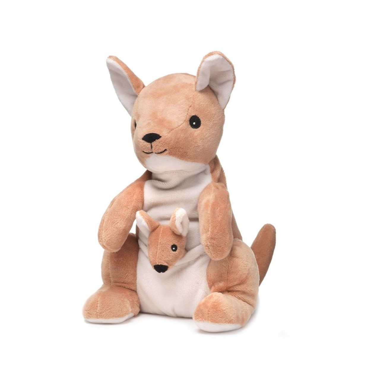 """All age groupscan have hours of funusingtheirWarmies®Cozy PlushKangaroo,knowing that they can be warm all night long.  The 13"""" Kangaroo is fully microwavable yet entirely safe to hold tight after taking a bath, putting on PJs, and heading up the stairs to bed."""