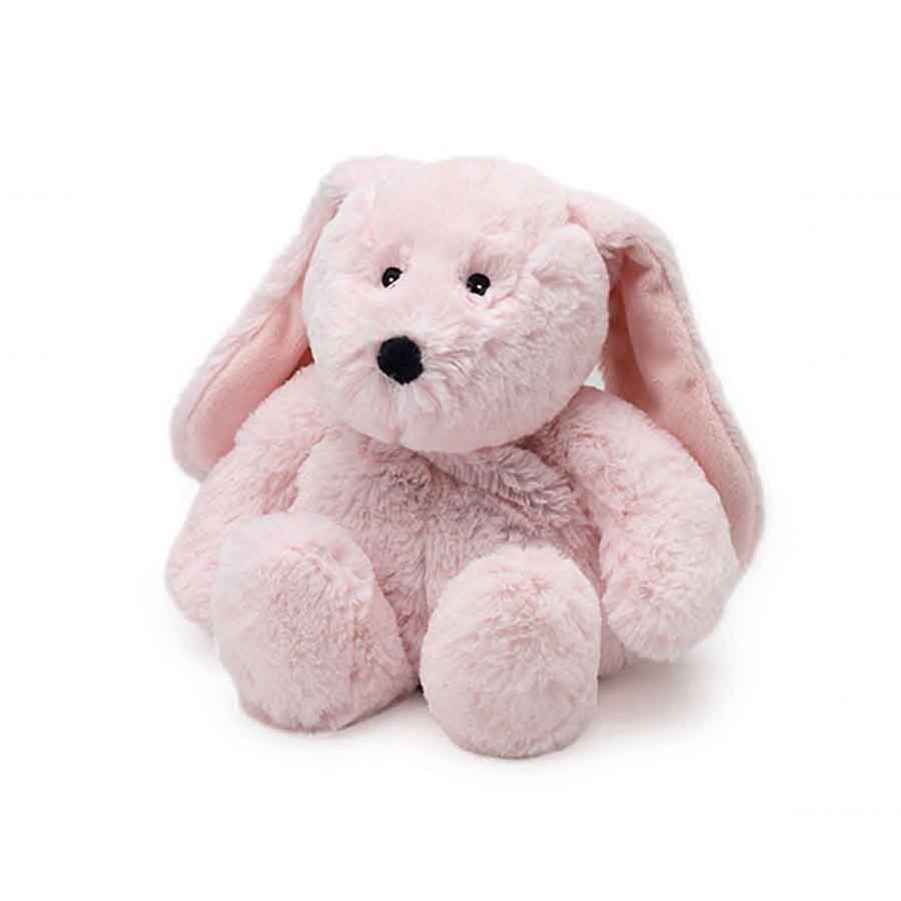 """All age groupscan have hours of funusingtheirWarmies®Cozy Plush Pink Bunny,knowing that they can be warm all night long.  The 13"""" Pink Bunny is fully microwavable yet entirely safe to hold tight after taking a bath, putting on PJs, and heading up the stairs to bed."""