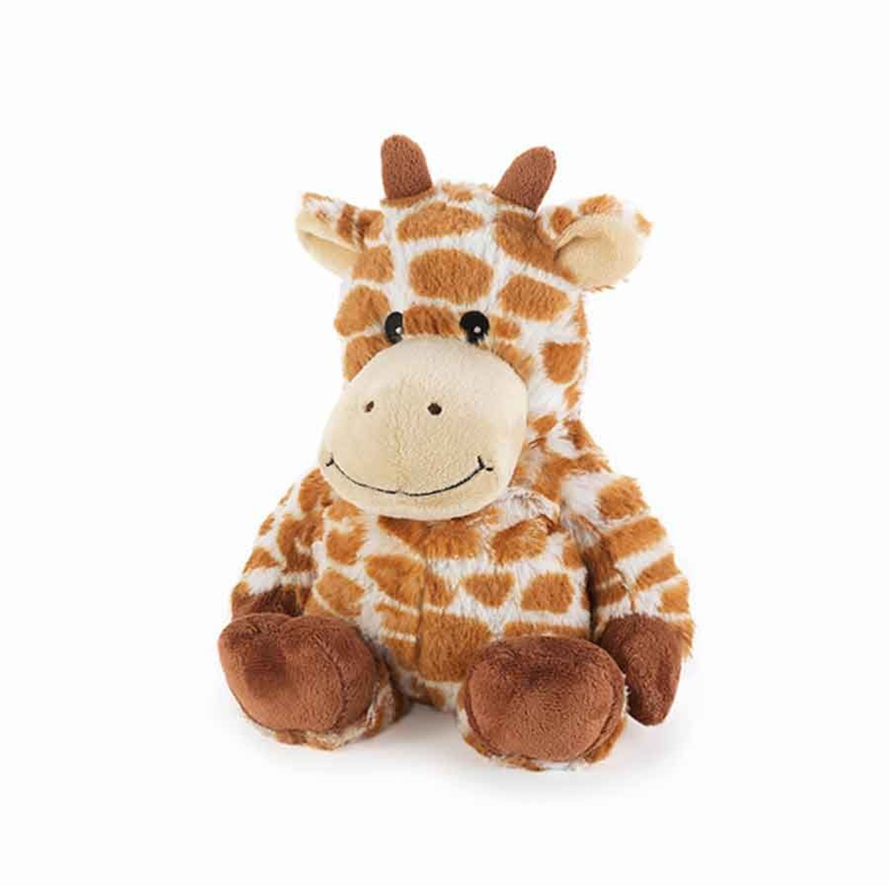 """All age groupscan have hours of funusingtheirWarmies®Cozy Plush Giraffe,knowing that they can be warm all night long.  The 13"""" Giraffe is fully microwavable yet entirely safe to hold tight after taking a bath, putting on PJs, and heading up the stairs to bed."""