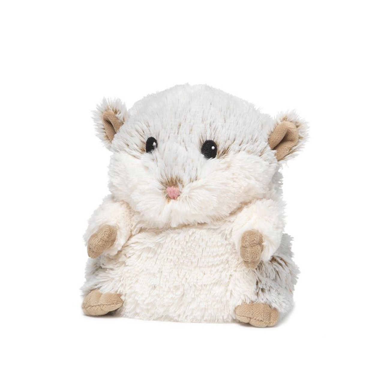 """All age groupscan have hours of funusingtheirWarmies®Cozy PlushHamster,knowing that they can be warm all night long.  The 13"""" Hamster is fully microwavable yet entirely safe to hold tight after taking a bath, putting on PJs, and heading up the stairs to bed."""