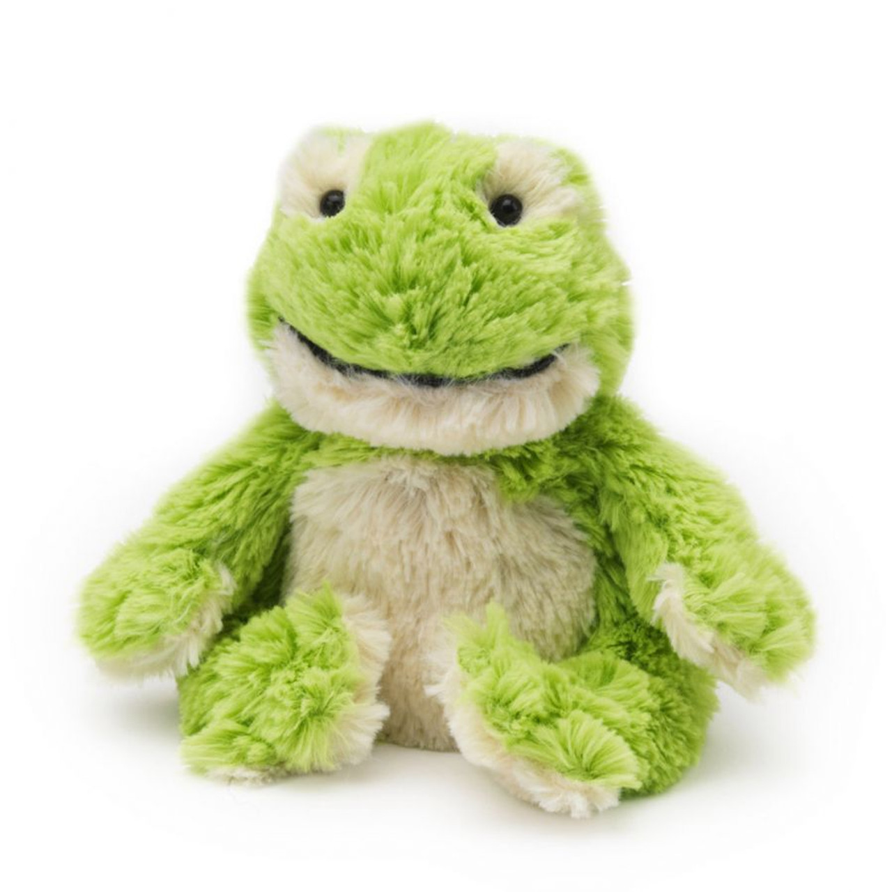 "All age groups can have hours of fun using their Warmies® Cozy Plush Junior Frog, knowing that they can be warm all night long.   The 9"" Junior Frog is fully microwavable yet entirely safe to hold tight after taking a bath, putting on PJs, and heading up the stairs to bed."