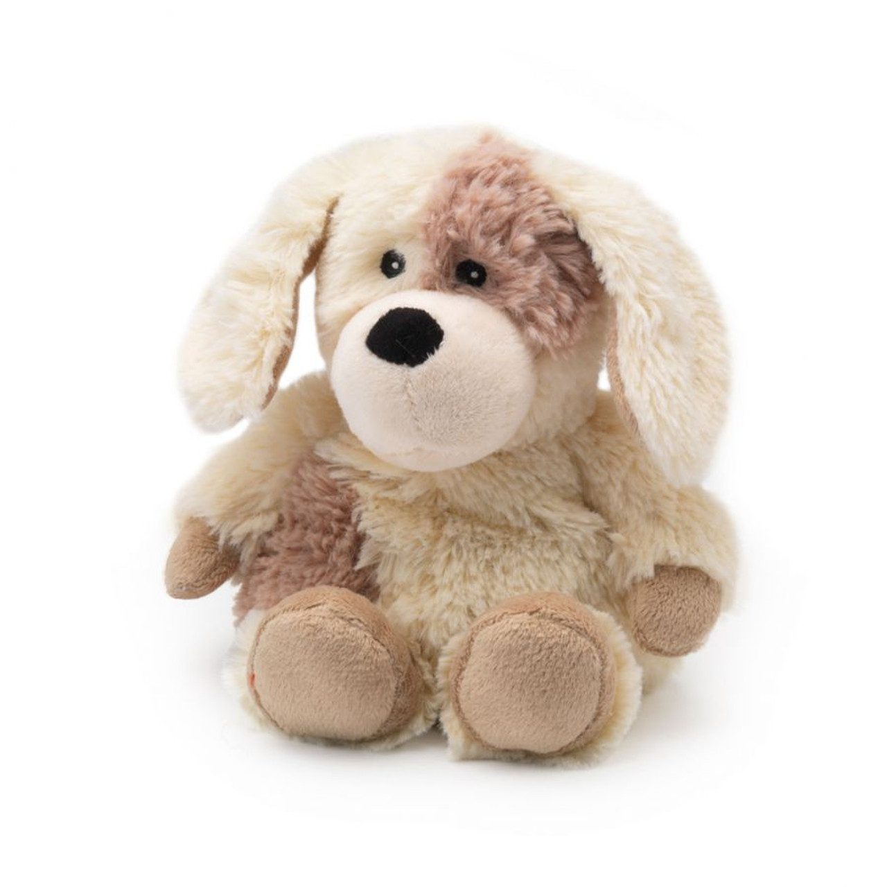 """All age groupscan have hours of funusingtheirWarmies®Cozy Plush Junior Puppy,knowing that they can be warm all night long.  The 9"""" Junior Puppy is fully microwavable yet entirely safe to hold tight after taking a bath, putting on PJs, and heading up the stairs to bed."""