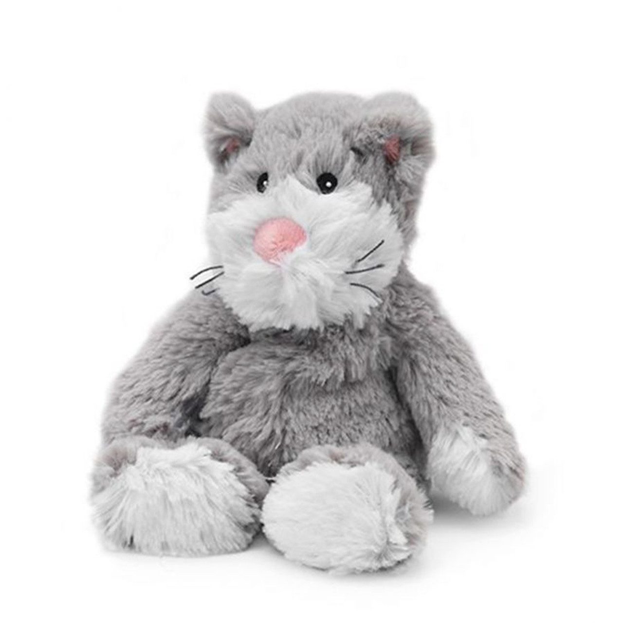 """All age groupscan have hours of funusingtheirWarmies®Cozy Plush Junior Cat,knowing that they can be warm all night long.  The 9"""" Junior Cat is fully microwavable yet entirely safe to hold tight after taking a bath, putting on PJs, and heading up the stairs to bed."""