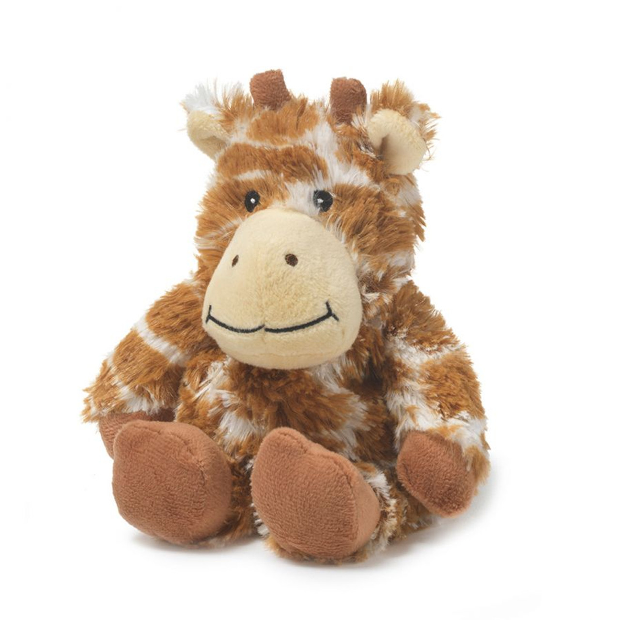 "All age groups can have hours of fun using their Warmies® Cozy Plush Junior Giraffe, knowing that they can be warm all night long.   The 9"" Junior Giraffe is fully microwavable yet entirely safe to hold tight after taking a bath, putting on PJs, and heading up the stairs to bed."