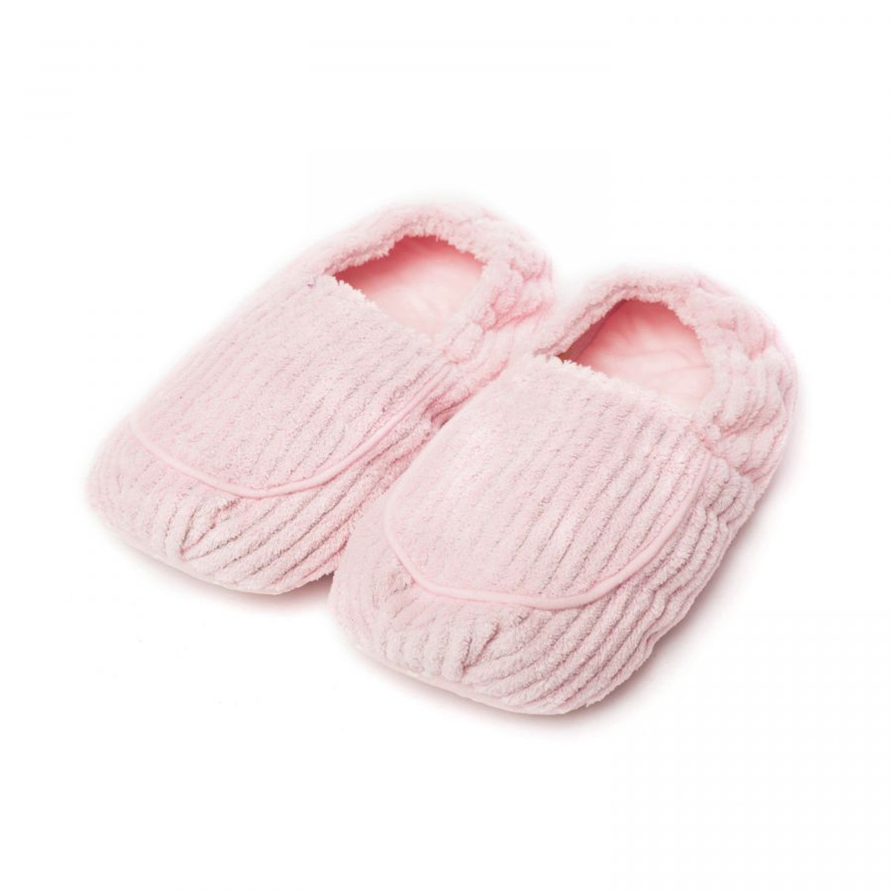 These adorable Warmies® Slippers are made from luxurious soft fur and are gently scented with relaxing French lavender. Simply pop them in a microwave for 90 seconds to provide up to an hour of soothing warmth and comfort. Manufactured to the very highest standards of quality and safety, with proper care these versatile and useful gifts will last for many years. Fits sizes 6-10 US.  Quick Facts:  Fully microwavable Can be reheated thousands of times Gently scented with French lavender Surface clean with a damp sponge Fits sizes 6-10 US