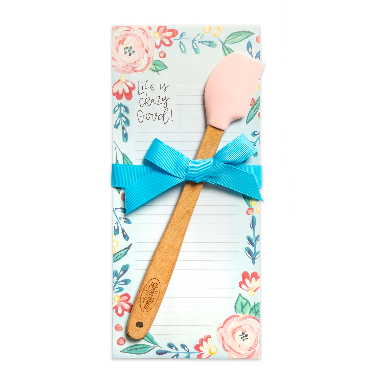 kitchen notepad mini spatula gift life is crazy good