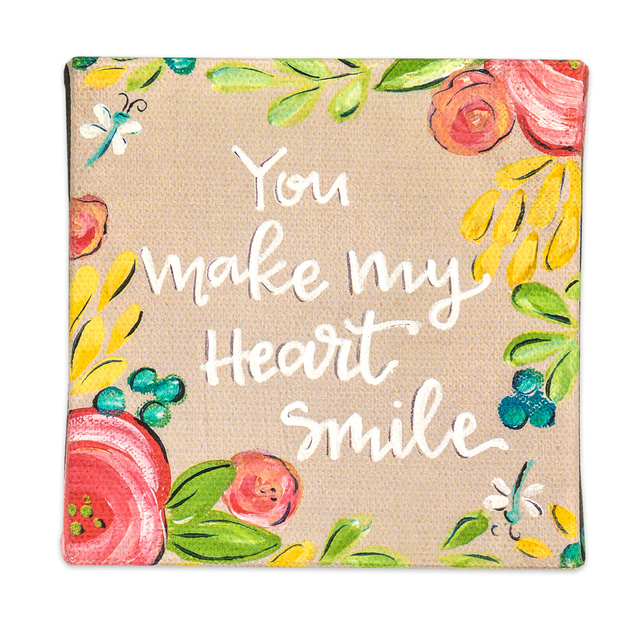 canvas hanger you make my heart happy gift inspirational