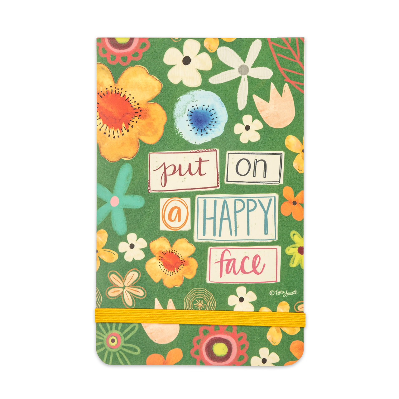 small notepad happy face gift inspirational