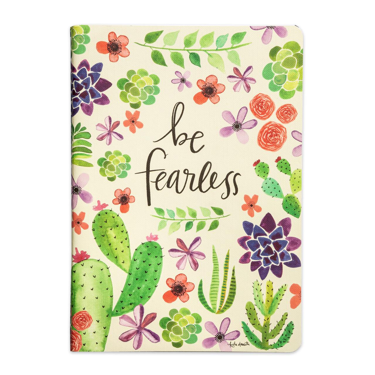 be fearless notebook journal gift inspirational