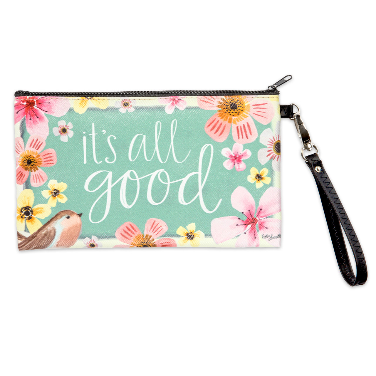 It's all good zippered ouch wristlet inspirational gift