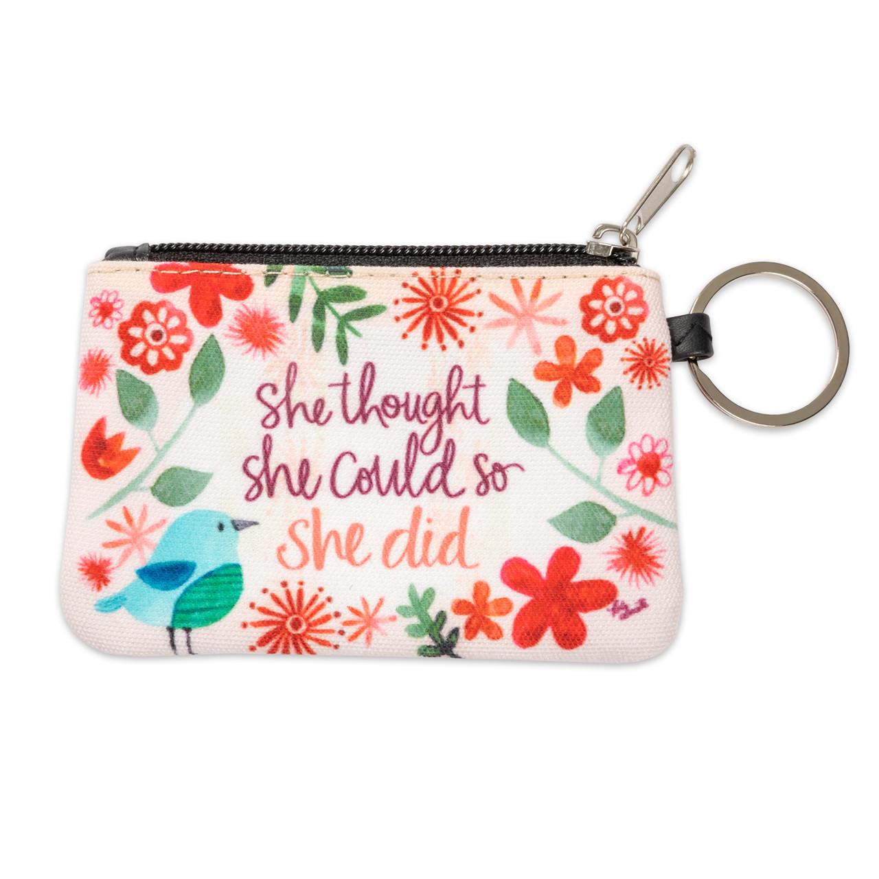 ID wallet keychain inspirational gift