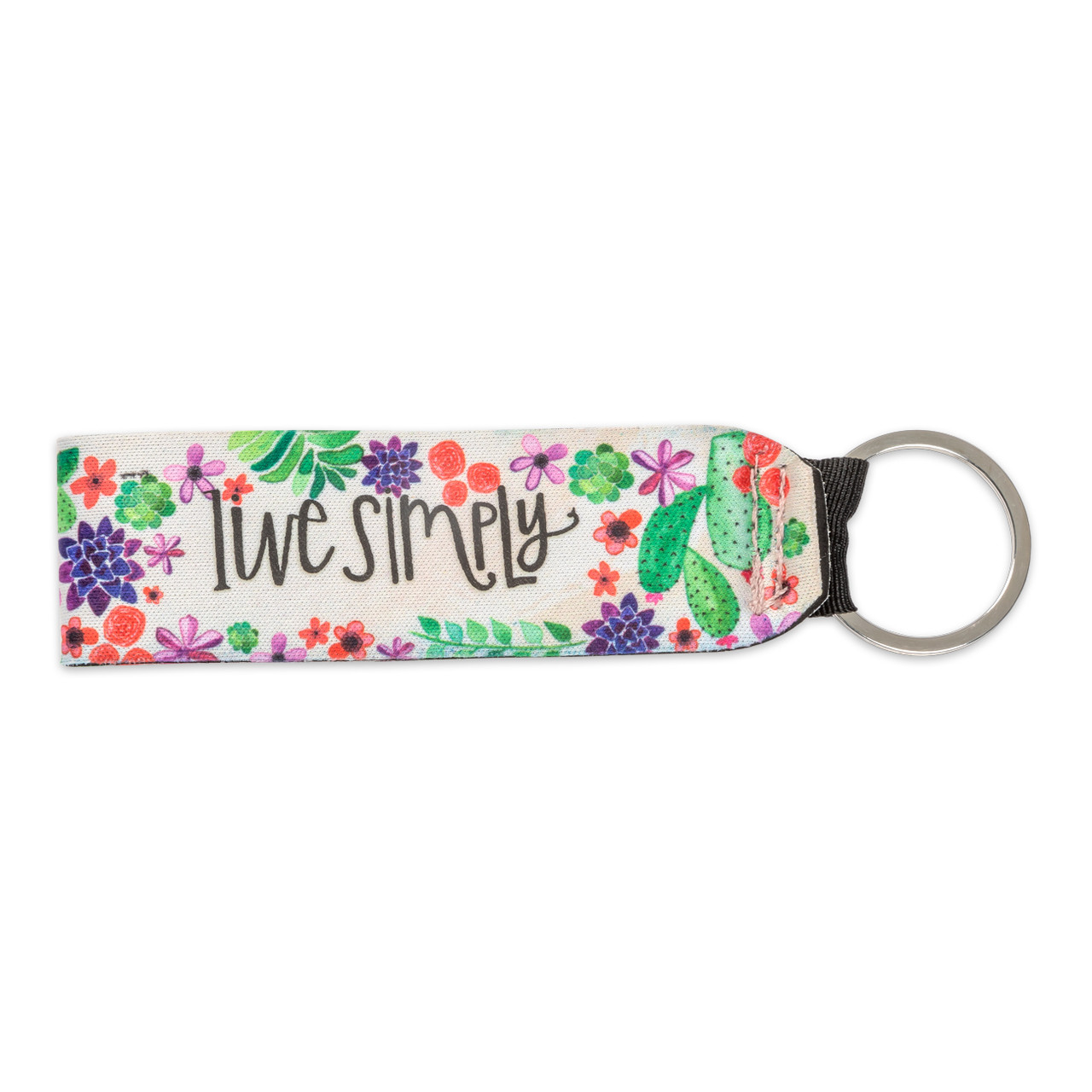 live simply keychain gift inspirational